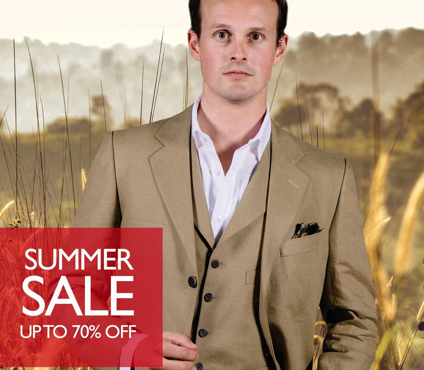 Men's Linen and Cotton Suits