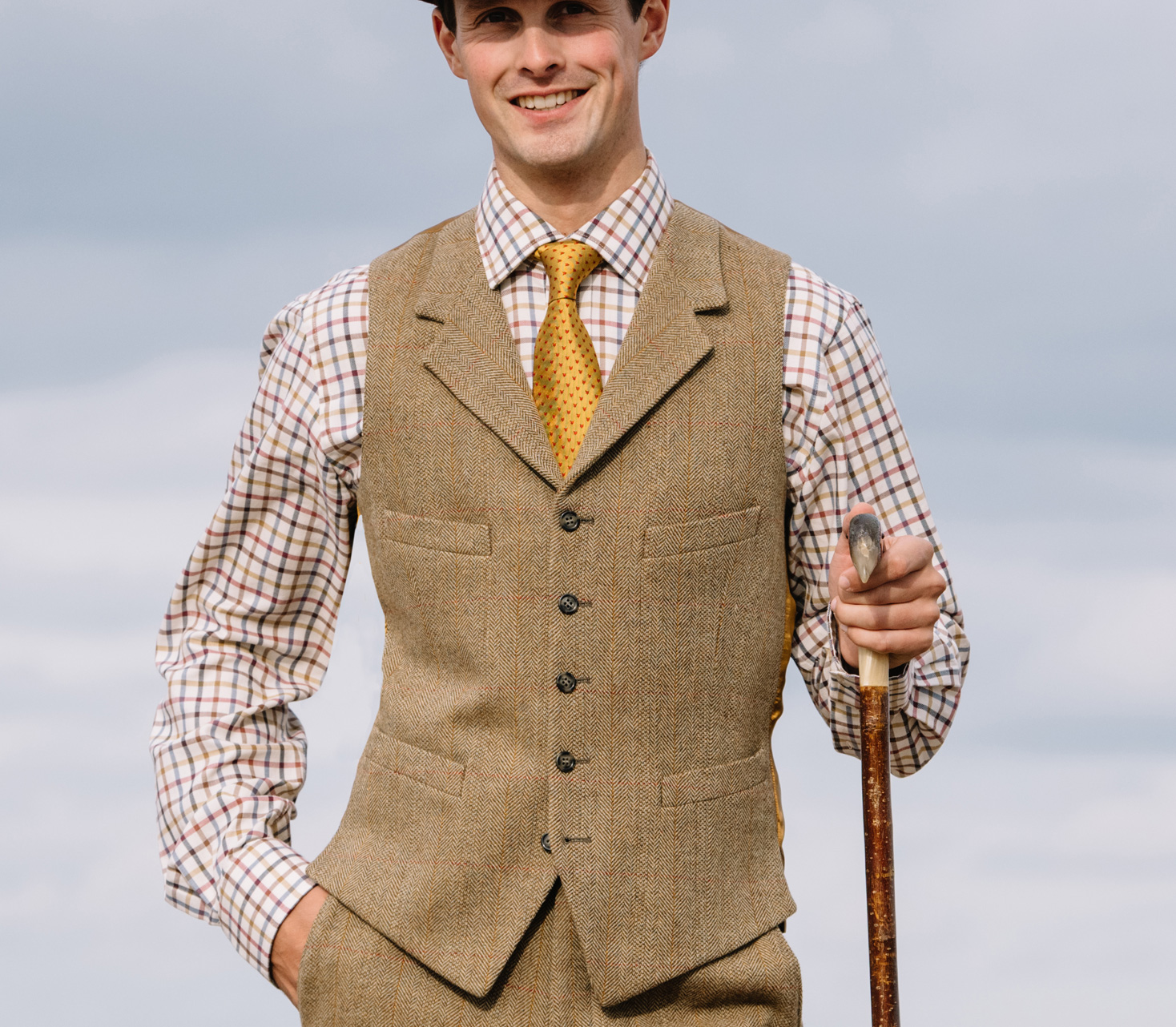 Men's Tweed Waistcoats