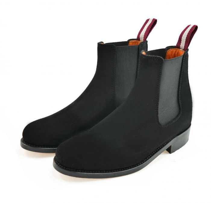 Dukes for Cordings Black Suede Chelsea Boot