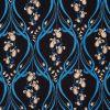 Navy Bluebell Silk Crepe Liberty Shirt