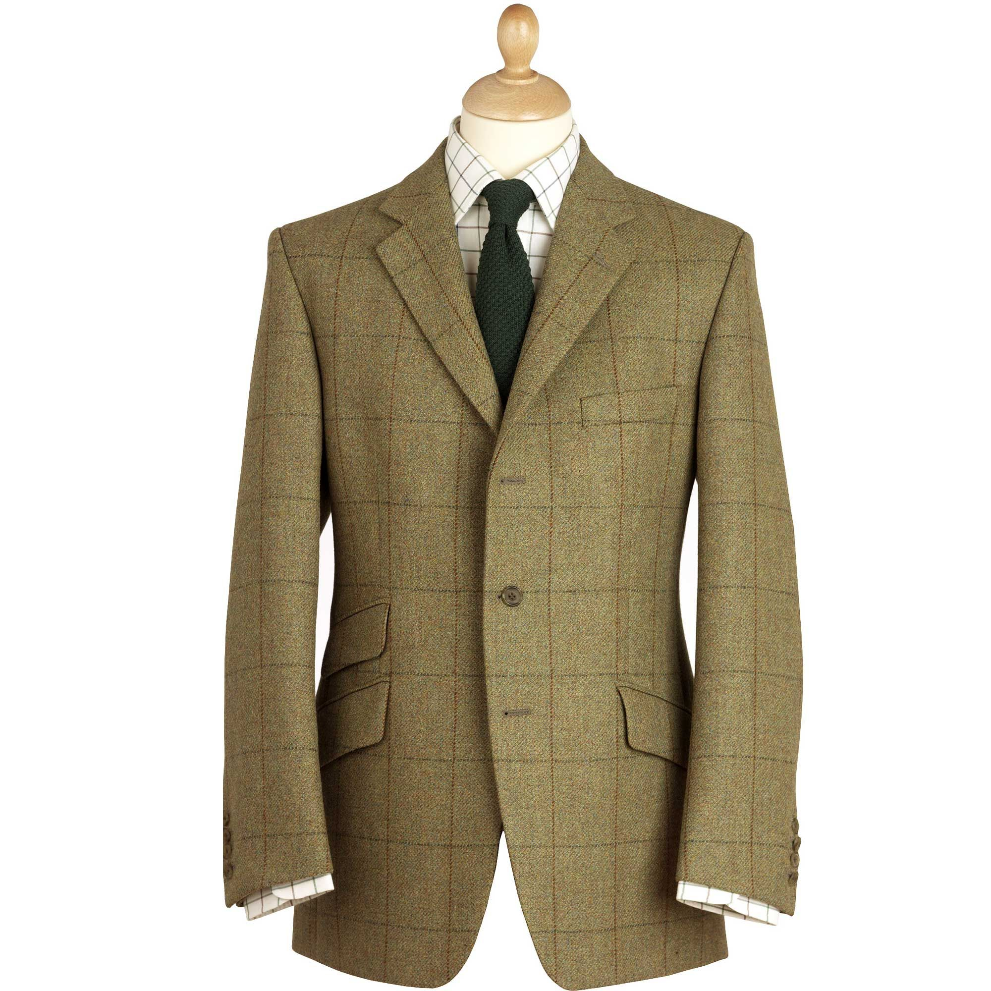 21oz Windowpane Tweed Jacket Men S Country Clothing Cordings