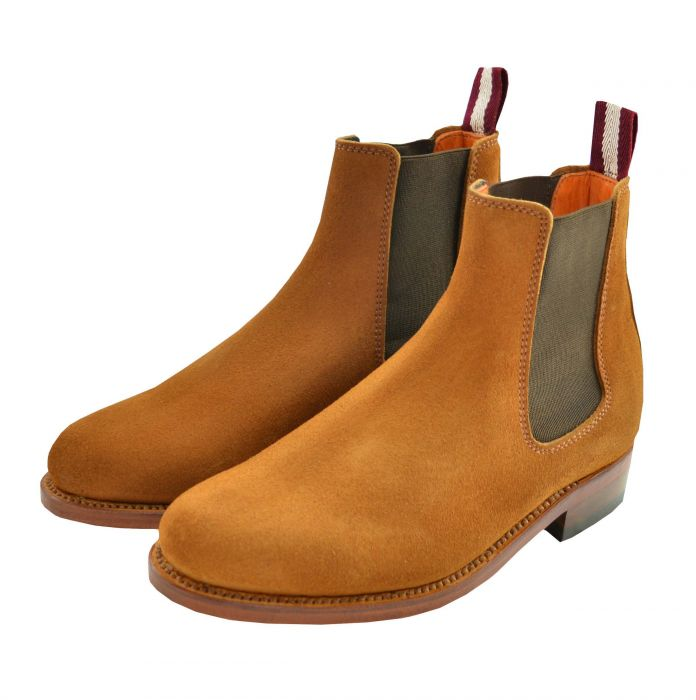 Dukes for Cordings Tan Suede Chelsea Boot
