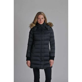 Cordings Schoffel Navy Mayfair Down Coat Different Angle 1