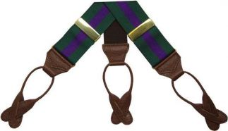 Cordings Green Purple Ribbon Braces Different Angle 1