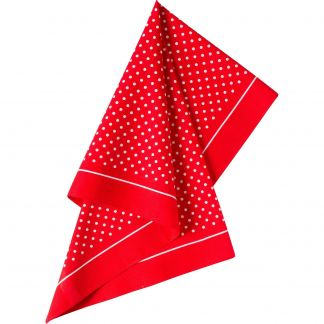 Cordings Bright Red Spotty Cotton Bandana  Different Angle 1