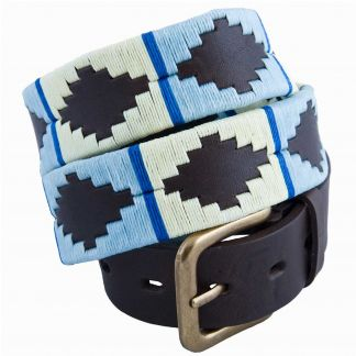 Cordings Sky Blue Argentinian Polo Belt Main Image