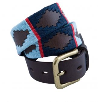 Cordings Navy Light Blue Argentinian Polo Belt Different Angle 1