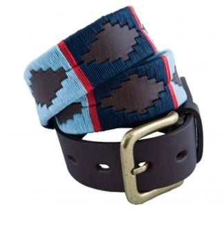 Cordings Navy Light Blue Argentinian Polo Belt Main Image
