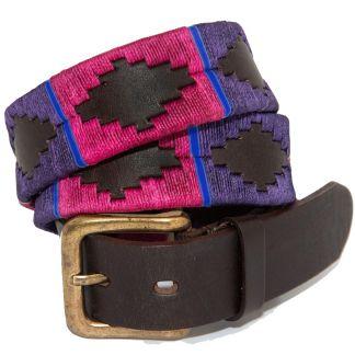Cordings Purple Argentinian Polo Belt Main Image