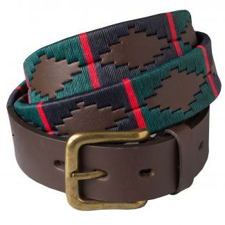 Cordings Green Blue Argentinian Polo Belt Main Image