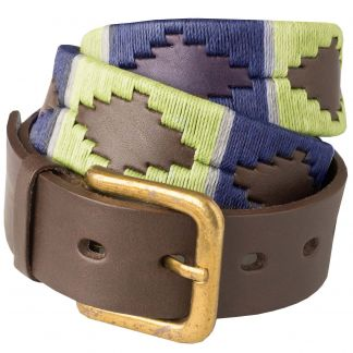 Cordings Navy Lime Argentinian Polo Belt Main Image