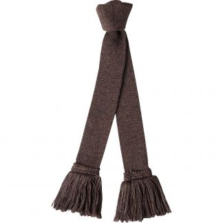 Cordings Mocha Wool Garter Tie Different Angle 1