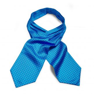 Cordings Blue 40oz Silk Spot Cravat Main Image