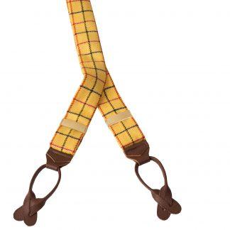Cordings Yellow Tattersall Braces Main Image