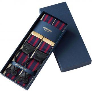 Cordings Blue Coloured Ribbon Braces Different Angle 1