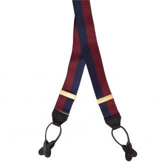 Cordings Wine Navy Stripe Ribbon Braces Main Image
