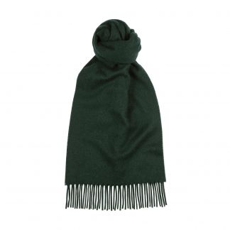 Cordings Bottle Green Speyside Cashmere Scarf Main Image