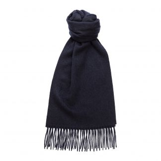 Cordings Navy Speyside Cashmere Scarf Main Image