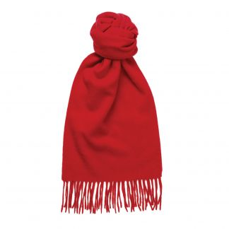 Cordings Bright Red Speyside Cashmere Scarf Main Image