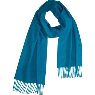 Cordings Kingfisher Blue Speyside Cashmere Scarf Different Angle 1