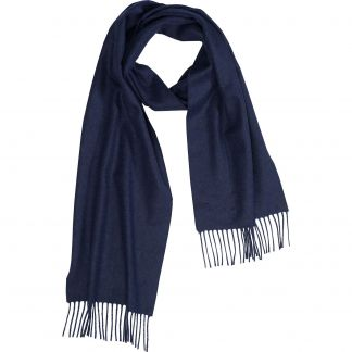 Cordings Navy Speyside Cashmere Scarf Different Angle 1