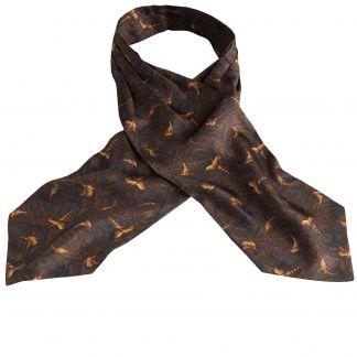 Cordings Bronze Pheasant Silk Cravat Main Image