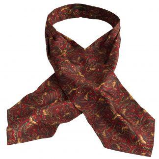 Cordings Red Pheasant Silk Cravat Main Image