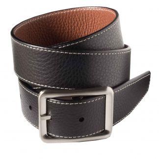 Cordings Black Brown Calf Grain Reversible Belt Main Image