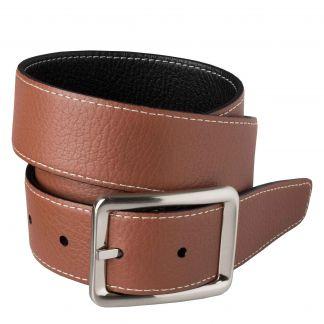 Cordings Black Brown Calf Grain Reversible Belt Different Angle 1