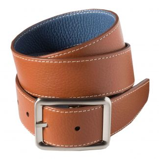 Cordings Brown Blue Calf Grain Reversible Belt Main Image