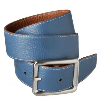 Cordings Brown Blue Calf Grain Reversible Belt Different Angle 1
