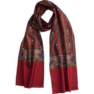 Cordings Red English Pheasant Silk Scarf Main Image