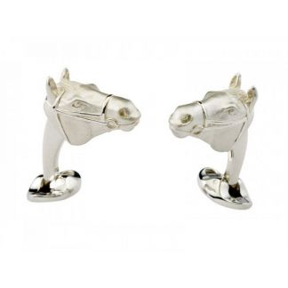 Cordings Silver Winning Horse Head Cufflinks Main Image