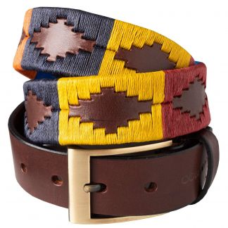 Cordings Mustard Windsor Argentinian Polo Belt Main Image