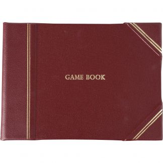Cordings Burgundy Half Bound Leather Game Book Main Image