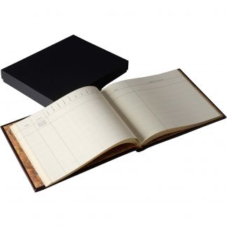 Cordings Large Leather Full Bound Game Book Different Angle 1