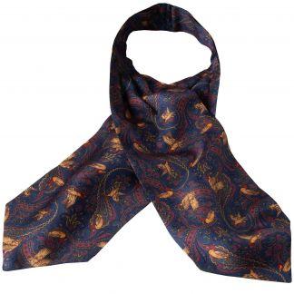 Cordings Navy Duck Silk Cravat Main Image