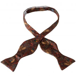 Cordings Orange Duck Silk Bow Tie Main Image