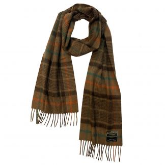 Cordings Brown Flaxton Cashmere Scarf Main Image
