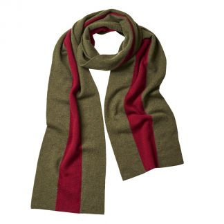 Cordings Green Red Cashmere College Scarf Main Image