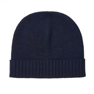 Cordings Navy 4 Ply Cashmere Beanie Hat Main Image