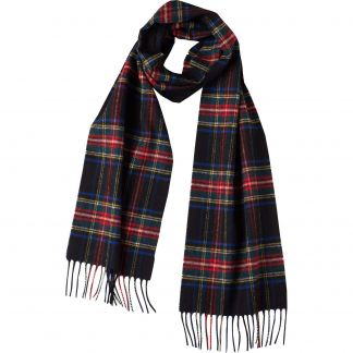 Cordings Black Stewart Antique Tartan Scarf Main Image