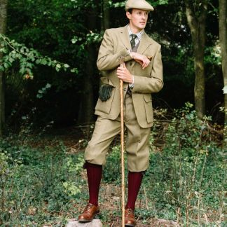Cordings House Check Tweed Plus Fours Shooting Breeks Different Angle 1