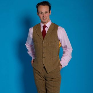 Cordings Barleycorn Tweed Waistcoat  Different Angle 1