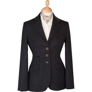 Cordings Black Velvet Collar Cavalry Twill T.ba Jacket Different Angle 1