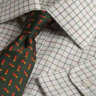 Cordings Brown Green Small Tattersall Shirt Main Image