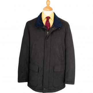 Cordings Olive Melton Wool Waterproof Paddock Jacket Main Image