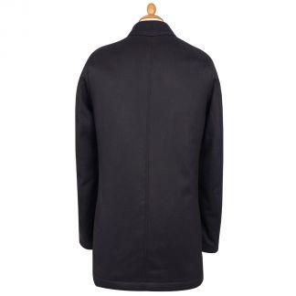 Cordings Navy Harold Wool & Cashmere Waterproof Coat Different Angle 1