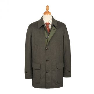 Cordings Green Harold Wool & Cashmere Waterproof Coat Main Image