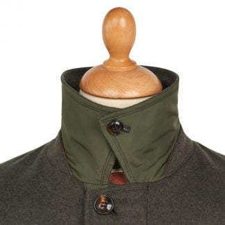 Cordings Green Harold Wool & Cashmere Waterproof Coat Different Angle 1